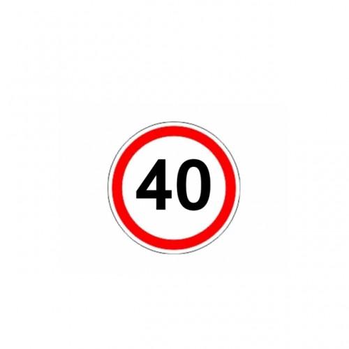 СТИКЕР 40 KM/H